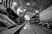 Construction of Kalininskaya Line of the Moscow metro, Russia, August 1979