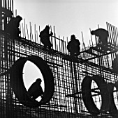 Construction of the Kursk Nuclear Power Plant, Kursk, Russia, 1972