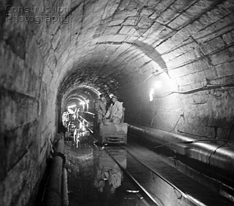 Construction of the Arpa Sevan tunnel Armenia USSR 1973