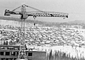 Building the city of Ust-Ilimsk, Irkutsk, Russia, 1973