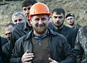 Nine-story residential house, of 104 apartments, will rise in Revolution Avenue, Grozny--Chechnyas capital. Republican Prime Minister Ramzan Kadyrov at the foundation stone laying gala, Grozny, Chechen Republic, Russia, 2006