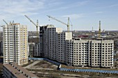 Serebryanye Klyuchi (Silver Springs), a neighborhood under construction in St. Petersburg on national program Affordable Housing, Russia, 2006