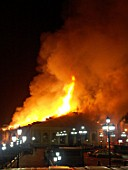 Moscow Manezh on fire, Moscow, Russia, 2004