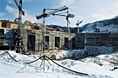 Building the Bureya hydropower plant, Amur Region, Russia, 2001