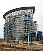 An industrial complex being built in the Alabuga free economic zone in the Russian Republic of Tatarstan, Russia, 2007