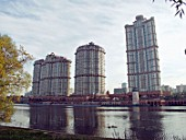 The Alye Parusa (Scarlet Sails) housing estate in northwestern Moscow, Strogino District, Russia, 2003