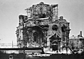 Demolition of the Annunciation church in the Labor square, Leningrad (now St Petersburg), Russia, USSR, 1929