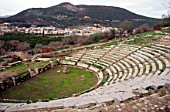 Small ancient Greek Theatre at Palea Epidavros, Greece