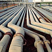 Abstract Pipes at NNPC oil refinery, Nigeria
