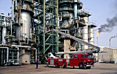 Simon Snorkel fire engine at Oil Refinery, Kaduna, Nigeria