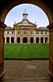 Emmanuel College through arch, Cambridge, UK