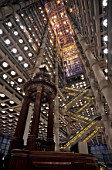 Interior of Lloyds Building with Lutine Bell, City of London, UK
