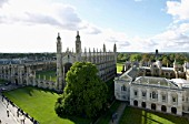 Kings College and Old Schools from St Marys Church, Cambridge, UK