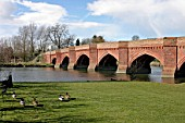 Bridge over the River Thames at Clifton Hampden, Oxfordshire, UK. Designed by Sir George Gilbert Scott in 1857.