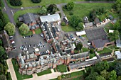 Aerial view north west of Bearwood College, Winnersh, Wokingham, Berkshire, UK