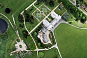 Aerial view south east of Audley End House in Audley End outside west of Saffron Walden, Essex, UK