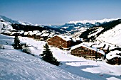 Alpine ski resort of Mottaret, France
