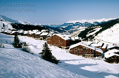 Alpine ski resort of Mottaret France