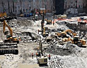 Excavations at Tower Four site, Lower Manhattan, New York City, USA