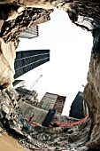 Deep in the bedrock at Tower Four site, Lower Manhattan, New York City, USA
