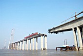 Approache viaducts  to Sutong Bridge that will span across the Yangtze River in Jiangsu Province, China