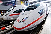 DB Intercity ICE high speed trains at Munich railway station, Germany