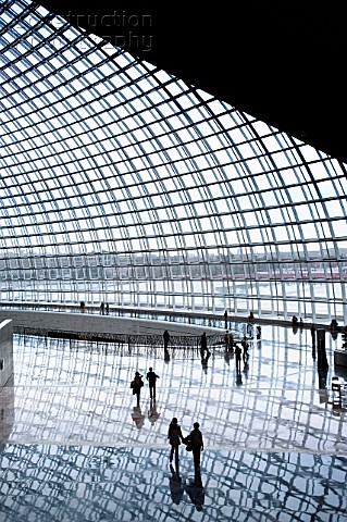 Interior of new National Theatre in Beijing nicknamed The Egg designed by architect Paul Andreu