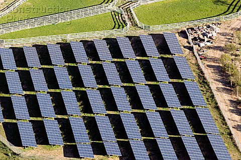 Solar farm Simi Valley California USA aerial view