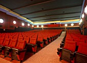 View of arranged chairs in an auditorium