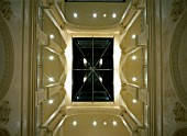 View of an illuminated skylight
