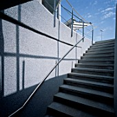 View of a stairway with handrail