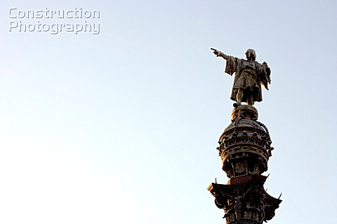 Statue of Christopher Columbus in Barcelona Spain