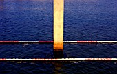 View of a depth water testing column in a sea port