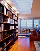 View of an elegant library in a home