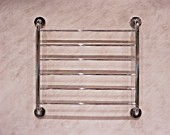 Close-up of a towel rack