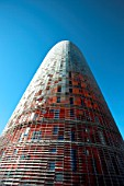 View of the Agbar Tower, architect Jean  Barcelona, Spain