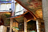 View of the Casa Mila, La Pedrera, Antonio Gaudi, Barcelona, Spain