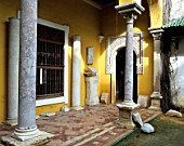 Old building with doorway and pillars,casa de pilatos,Seville,Spain