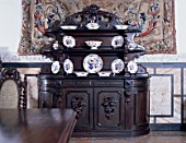 Wooden cupboard with crockery,Casa Pilatos,Sevilla,Spain