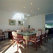 View of an elegant dining room