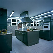 View of a modular kitchen