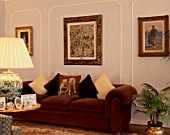 Beautiful paintings adorn a living room