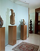 View of beautiful sculptures on display