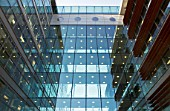 Glass walkway, office block, Spencer Dock, Dublin, Ireland 2008