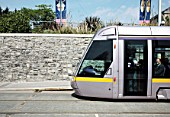LUAS Tram at Museum stop on the Red Line, Dublin, Ireland 2008