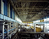 Turbine hall at decommissioned nuclear power plant, Kozlodui, Bulgaria