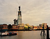 The Shard London; Night Shot of the Tallest building in Europe under Construction.