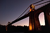 Menai Suspension Bridge, Anglesey, North Wales, UK