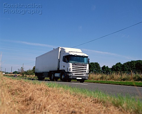 Cargo truck on road