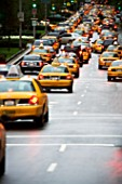 Yellow taxi cabs in new york
